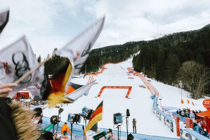 Garmisch – Slalom-Semmel, Glühwein, Kandahar